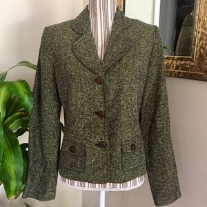 Apt. 9 Olive Green Tweed Blazer